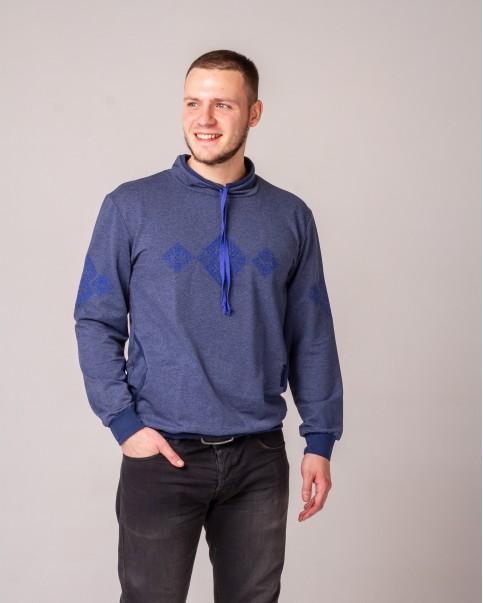 Купити світшот вишитий Ельбрус  (джинс синій ) в Україні від виробника Галичанка фото 1