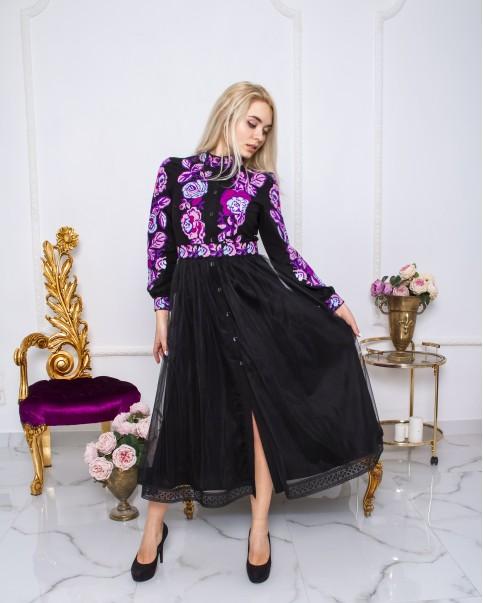 Купити вишиту сукню Жанетта (чорний)  в Україні від виробника Галичанка фото 1