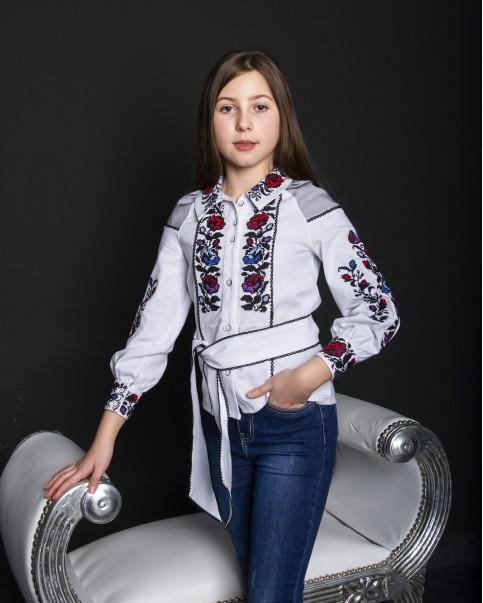 Вишиванка для дівчинки  Юліанка (підліток)  – купити в Україні від Галичанка фото 1