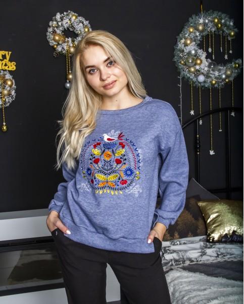 Купити жіночий світшот з вишивкою Байка ( кольорова)  в Україні від Галичанка фото 1