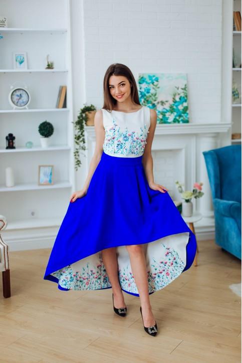 Купити ексклюзивну вишиванку Амелі (біло-блакитна) в Україні від Галичанка фото 1