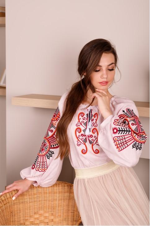 Купити жіночу вишиту сорочку Витинанка (рожева)в Україні від Галичанка фото 1