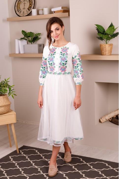 Купити вишиту сукню Божена (біле) в Україні від виробника Галичанка фото 1