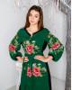 Купити вишиту сукню Роксолана (зелено-чорна) в Україні від виробника Галичанка фото 2