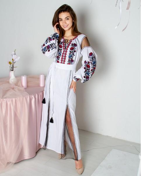 Купити вишиту сукню Біанка (біла) в Україні від виробника Галичанка фото 1