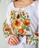 Купити жіночу вишиту сорочку Писанка (біла з золотом)в Україні від Галичанка фото 2