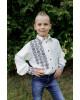Вишиванка для хлопчика Северин (молочна з чорним) – купити в УкраїнівідГаличанка фото 3