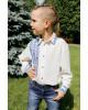 Вишиванка для хлопчика Северин  ( молочний з синім) – купити в УкраїнівідГаличанка фото 1