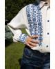 Вишиванка для хлопчика Северин  ( молочний з синім) – купити в УкраїнівідГаличанка фото 2