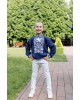 Вишиванка для хлопчика Всеволод (синій з білим) – купити в УкраїнівідГаличанка фото 1