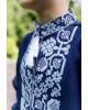 Вишиванка для хлопчика Всеволод (синій з білим) – купити в УкраїнівідГаличанка фото 2