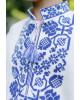 Вишиванка для хлопчика Всеволод (молочна з синім) – купити в УкраїнівідГаличанка фото 2
