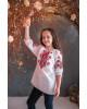 Вишиванка для дівчинки Марічка бязь (біла з червоним) – купити в Україні від Галичанка фото 1