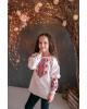 Вишиванка для дівчинки Марічка бязь (біла з червоним) – купити в Україні від Галичанка фото 2