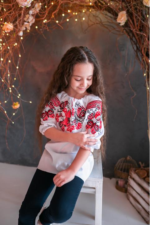 Вишиванка для дівчинки Метелик – купити в Україні від Галичанка фото 1