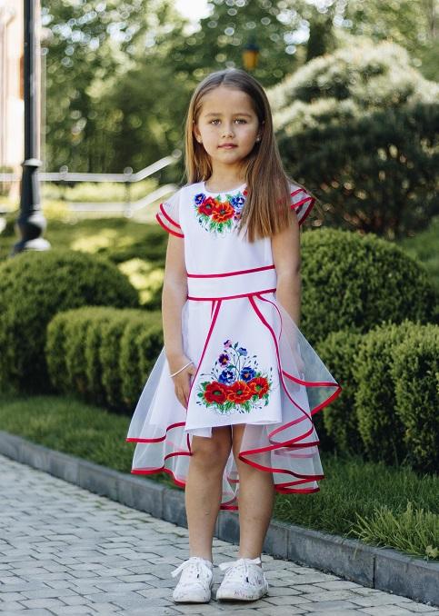 Купити вишите дитяче плаття Мія  – ціна від виробника Галичанка фото 1