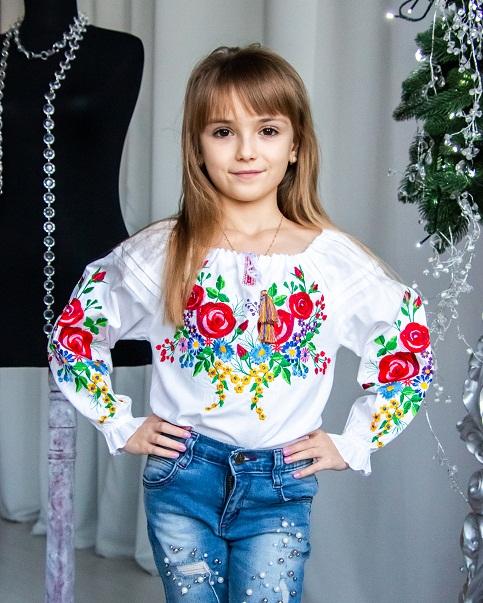 Вишиванка для дівчинки Розалія – купити в Україні від Галичанка фото 1
