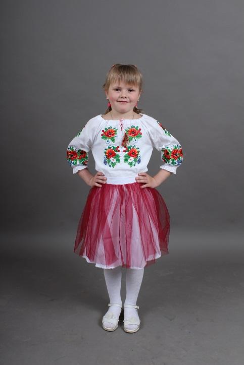 Вишиванка для дівчинки Василинка (сорочкова) – купити в Україні від Галичанка фото 1