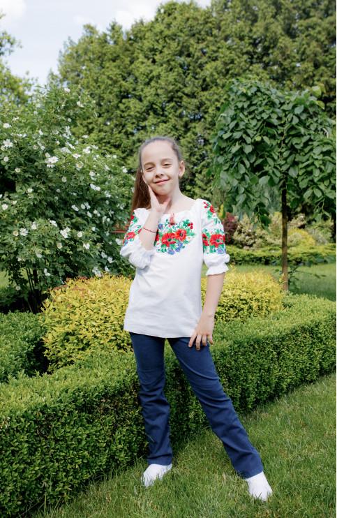 Вишиванка для дівчинки Василинка  (бязь) – купити в Україні від Галичанка фото 1