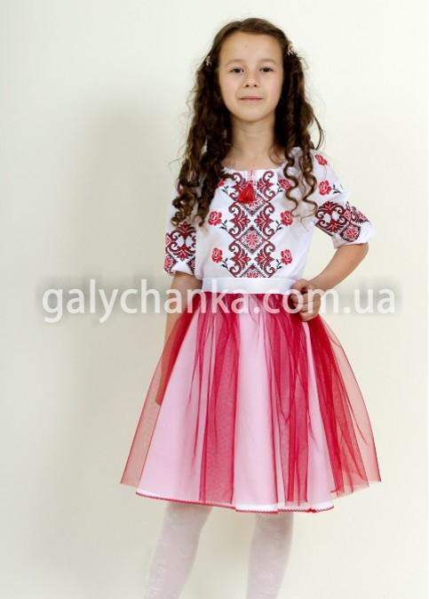 Купити дитячу спідницю до вишиванки Веронічка (біла) в Україні від Галичанка фото 1