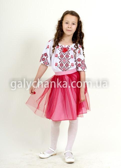 Купити дитячу спідницю до вишиванки Веронічка (рожева) в Україні від Галичанка фото 1