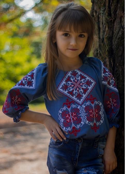 Вишиванка для дівчинки Говерла (червоно-біла) – купити в Україні від Галичанка фото 1
