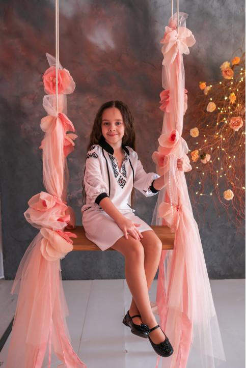 Купити вишите дитяче плаття Гражда (біла) – ціна від виробника Галичанка фото 1