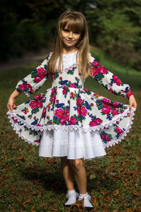 Купити вишите дитяче плаття Принцеса – ціна від виробника Галичанка фото 1