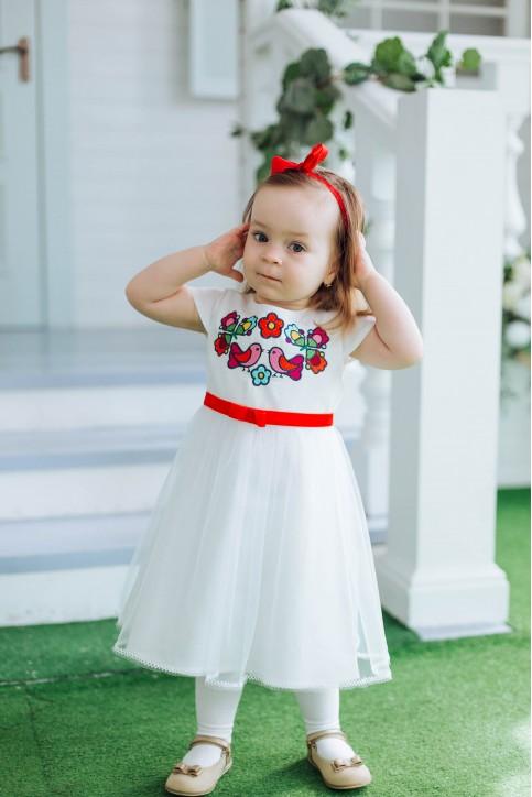 Купити вишите дитяче плаття  Пташечка  – ціна від виробника Галичанка фото 1