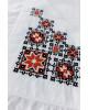 Купити скатертину в українському стилі  Орнамен (біла з червоним) від виробника Галичанка  фото 2