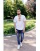 Купити чоловічу футболку вишиванку Бажан (біла з золотом) в Україні від Галичанка фото 1