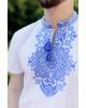 Купити чоловічу футболку вишиванку Орел ( біла з синім) в Україні від Галичанка фото 2