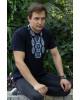 Купити чоловічу футболку вишиванку Руслан (синя з синім) в Україні від Галичанка фото 1