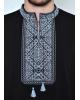 Купити чоловічу футболку вишиванку Традиція ( чорна з сірим ) в Україні від Галичанка фото 2