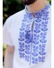 Купити чоловічу футболку вишиванку Ярило ( біла з синім) в Україні від Галичанка фото 2