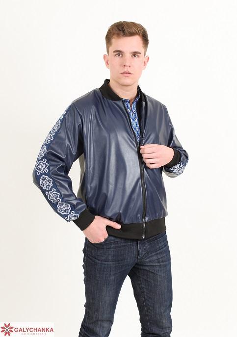 Купити вишиту куртку Стиль чоловіча ( темно синя ) в Україні від виробника Галичанка фото 1