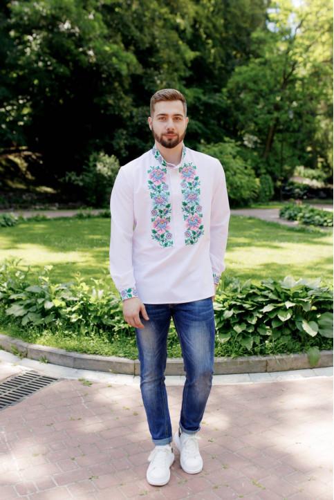 Купити чоловічу вишиту сорочку Божен ( білий)в Україні від Галичанка фото 1