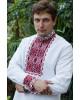 Купити чоловічу вишиту сорочку Отаман плюс (біла з червоним)в Україні від Галичанка фото 2