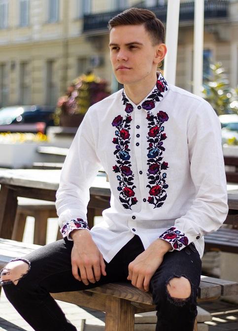 Купити чоловічу вишиту сорочку Павло в Україні від Галичанка фото 1