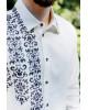 Купити чоловічу вишиту сорочку Северин (молочна з чорним) в Україні від Галичанка фото 2