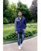 Купити чоловічу вишиту сорочку Султан (темно синій з білим) в Україні від Галичанка фото 1