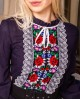 Купити жіночу вишиту сорочку Агнеса плюс (темно синя)в Україні від Галичанка фото 2