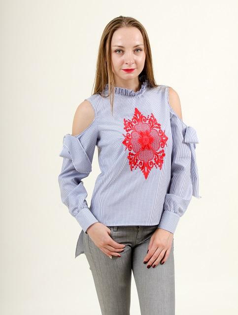 Купити жіночу вишиту сорочку Барокко (полоска)в Україні від Галичанка фото 1