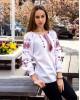 Купити жіночу вишиту сорочку Діва (біла з червоним)в Україні від Галичанка фото 1