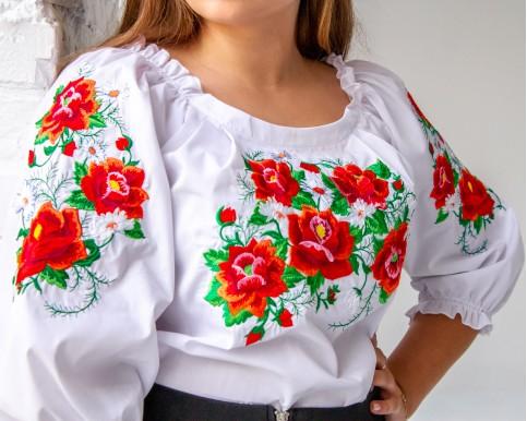 Купити жіночу вишиту сорочку Довершеність (біла)в Україні від Галичанка фото 1