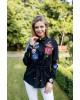 Купити жіночу вишиту сорочку Фелісія  (чорна)в Україні від Галичанка фото 1