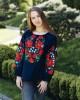 Купити жіночу вишиту сорочку Гармонія бохо (синя)в Україні від Галичанка фото 1