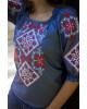 Купити жіночу вишиту сорочку Говерла (джинс т. з червоним)в Україні від Галичанка фото 3