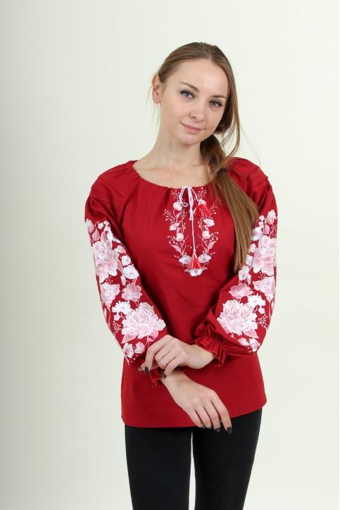 Купити жіночу вишиту сорочку Казка (червона)в Україні від Галичанка фото 1