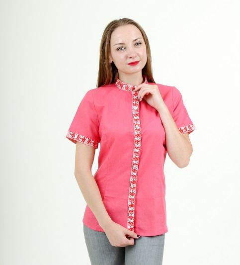 Купити жіночу вишиту сорочку Маргаритка (рожева)в Україні від Галичанка фото 1